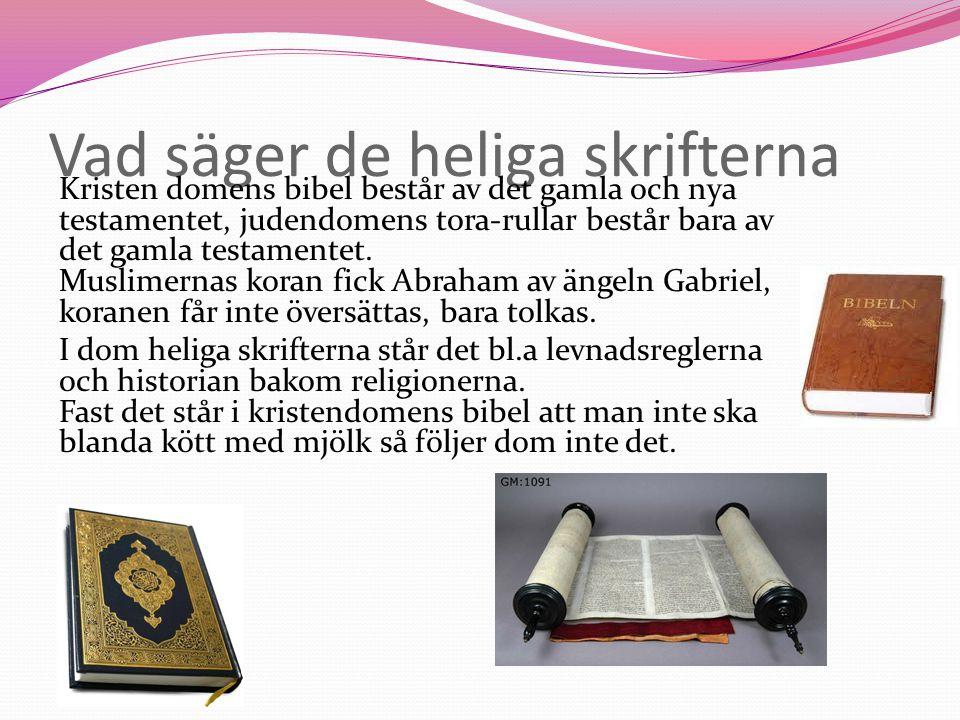 Vad säger de heliga skrifterna