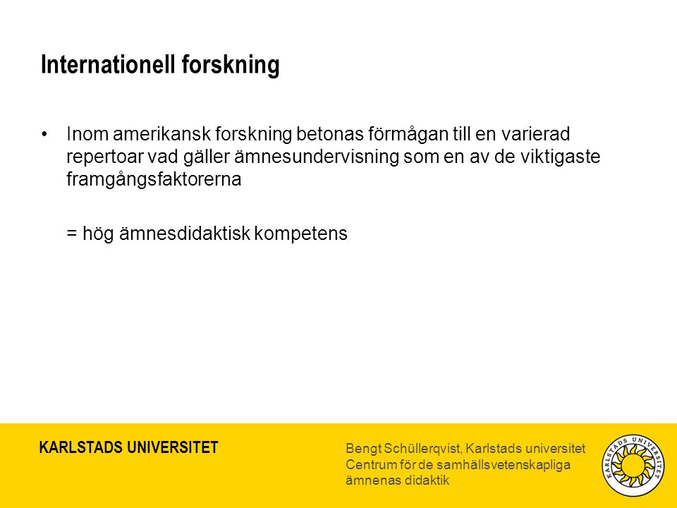 Internationell forskning
