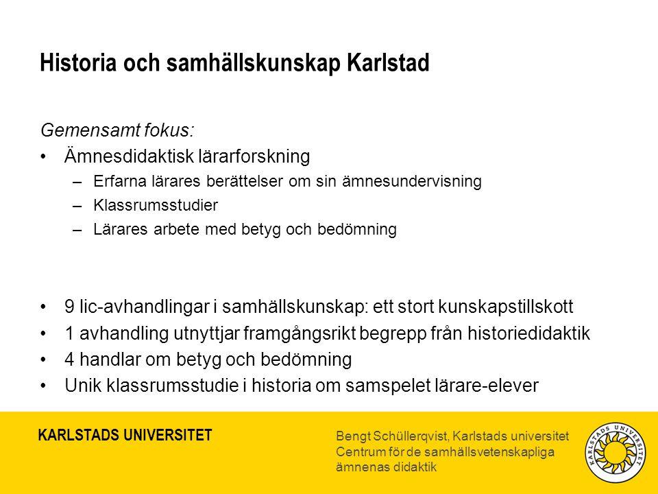 Historia och samhällskunskap Karlstad