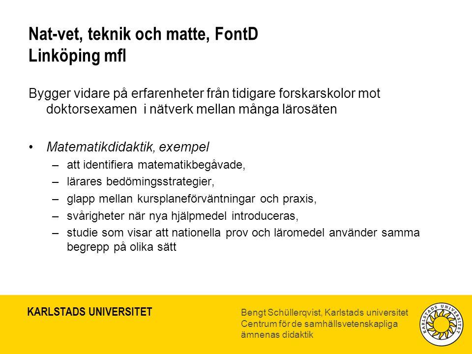Nat-vet, teknik och matte, FontD Linköping mfl