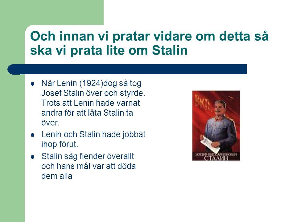 Och innan vi pratar vidare om detta så ska vi prata lite om Stalin