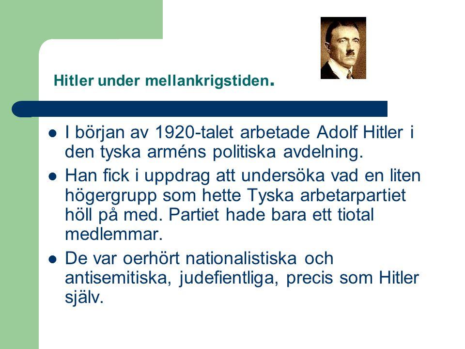 Hitler under mellankrigstiden.