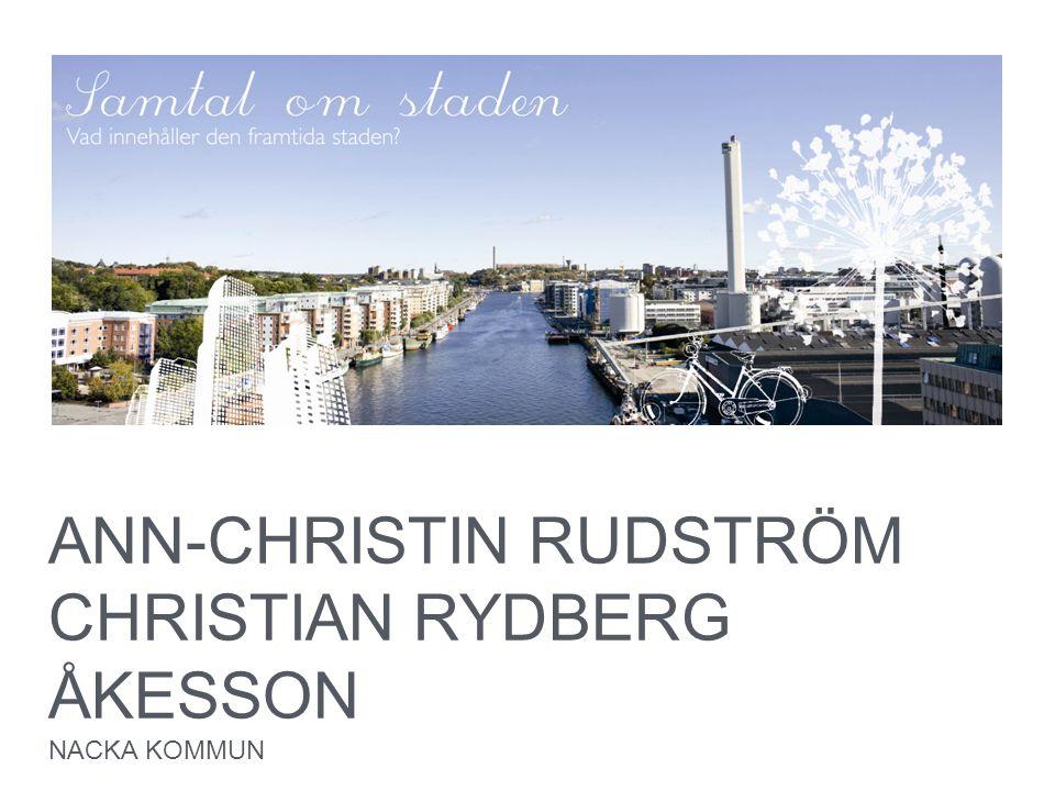 ANN-CHRISTIN RUDSTRÖM CHRISTIAN RYDBERG ÅKESSON
