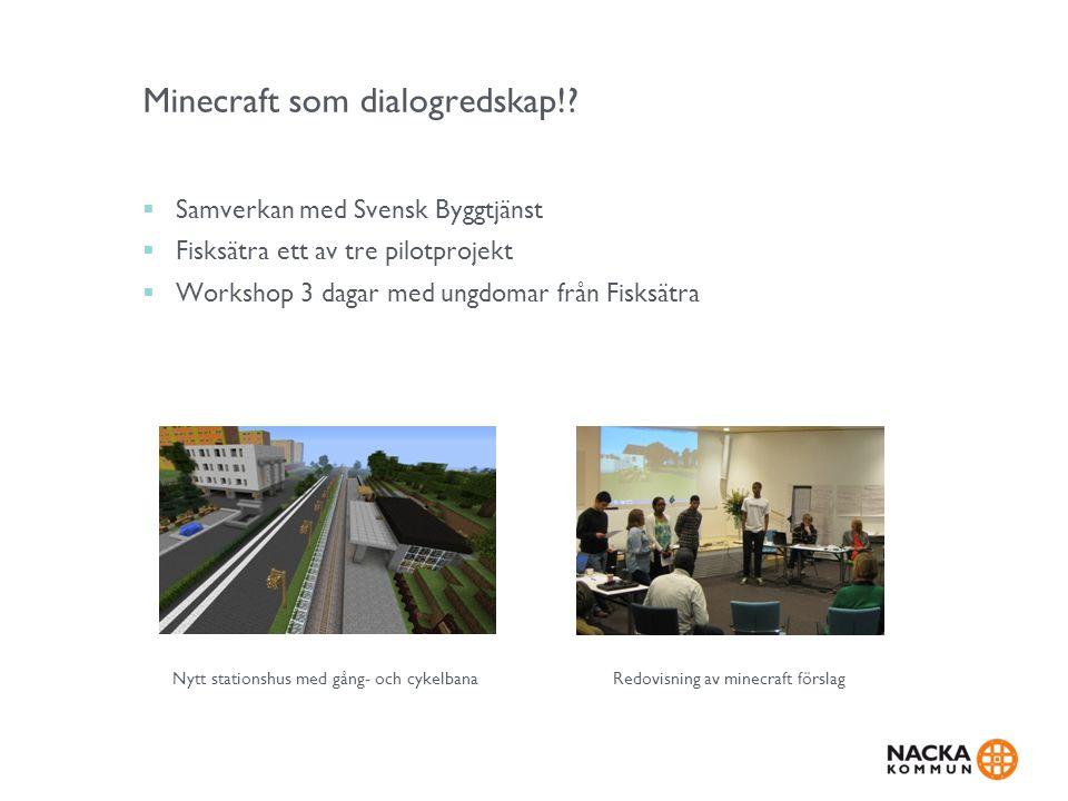 Minecraft som dialogredskap!
