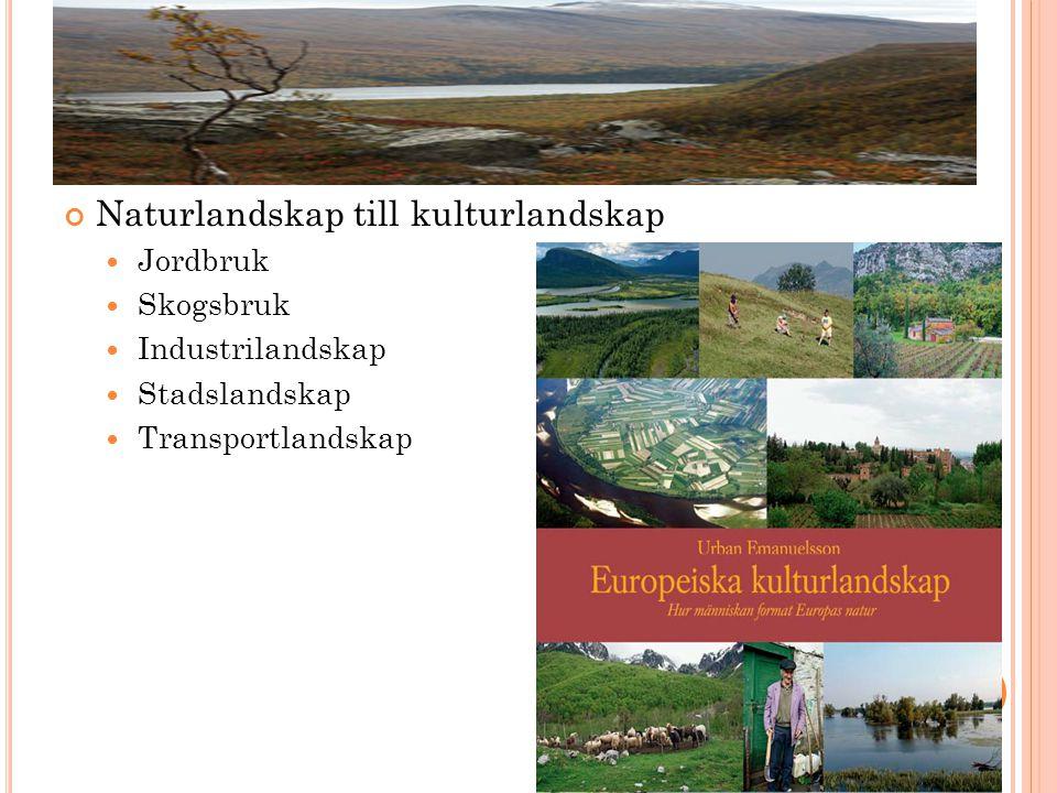 Naturlandskap till kulturlandskap