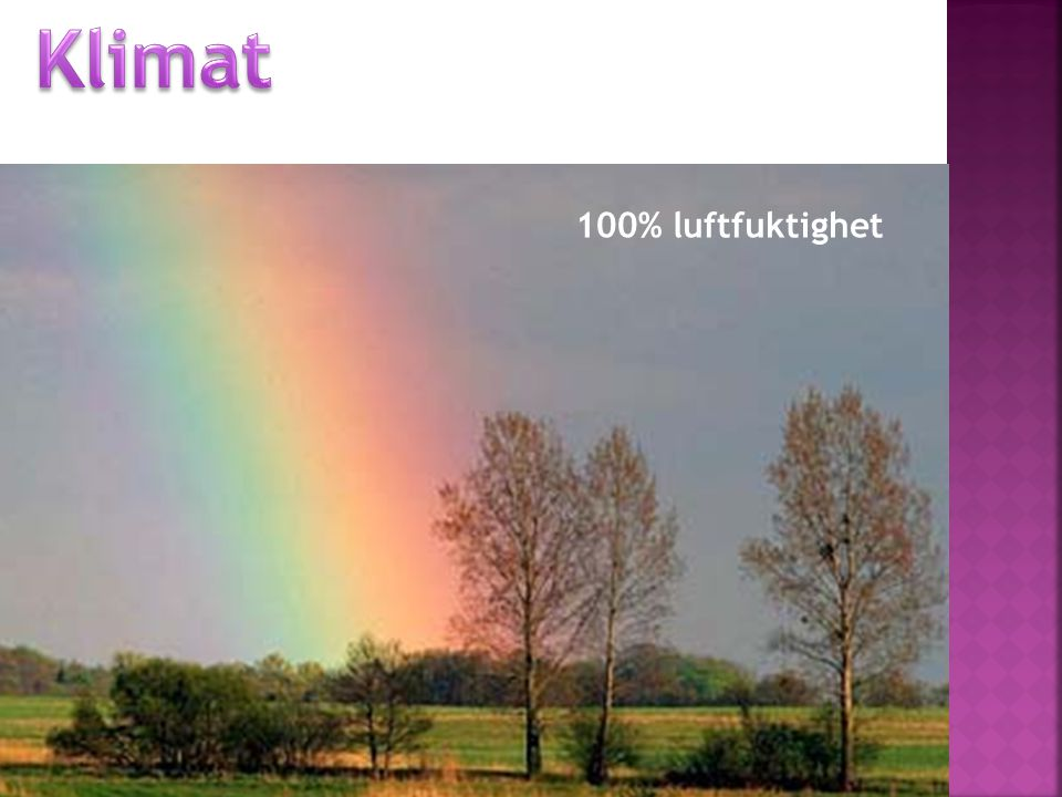 Klimat 100% luftfuktighet