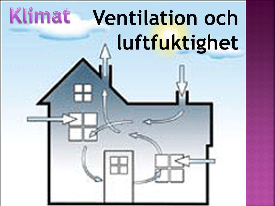 Klimat Ventilation och luftfuktighet