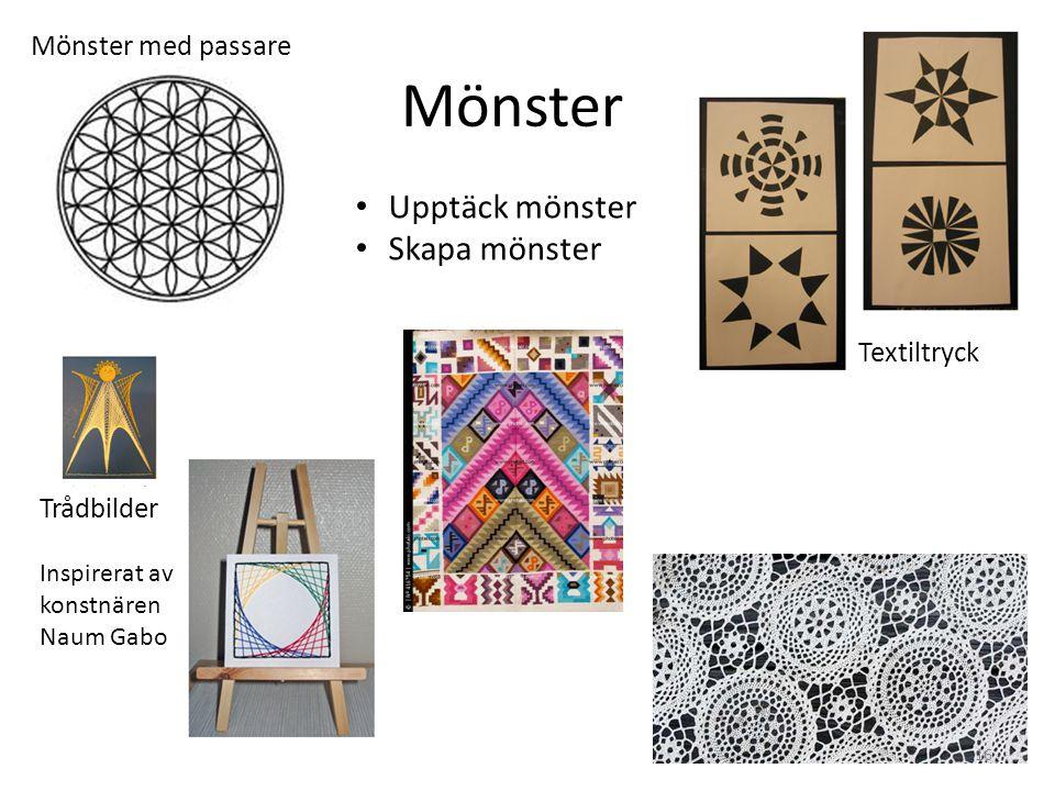 Mönster Upptäck mönster Skapa mönster Mönster med passare Textiltryck