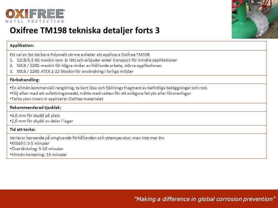 Oxifree TM198 tekniska detaljer forts 3