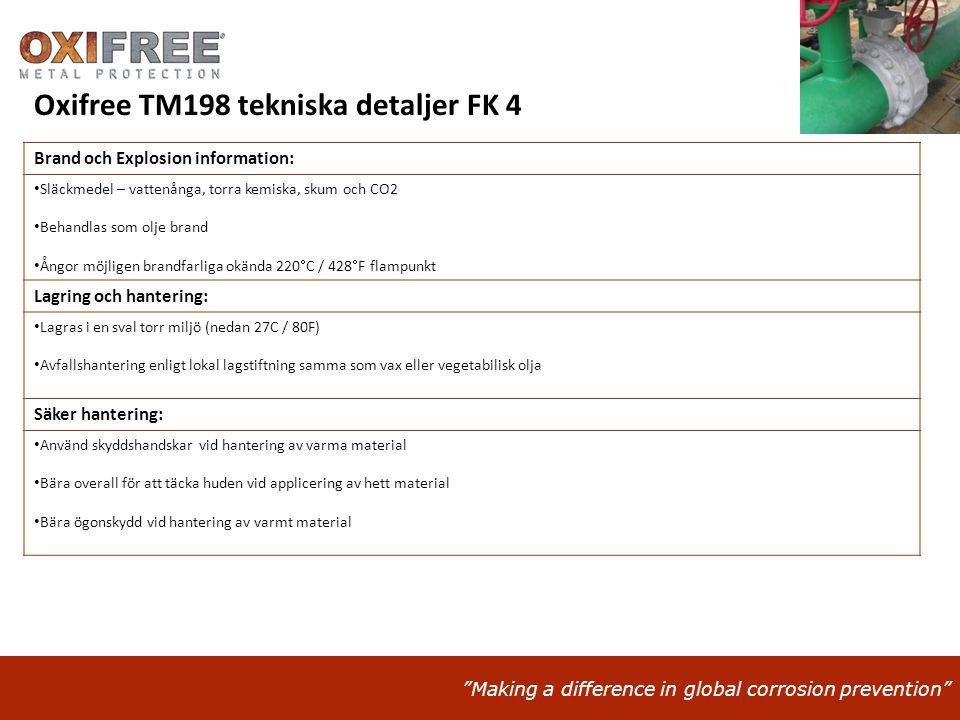 Oxifree TM198 tekniska detaljer FK 4