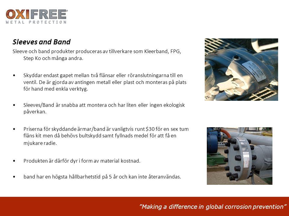 Sleeves and Band Sleeve och band produkter produceras av tillverkare som Kleerband, FPG, Step Ko och många andra.