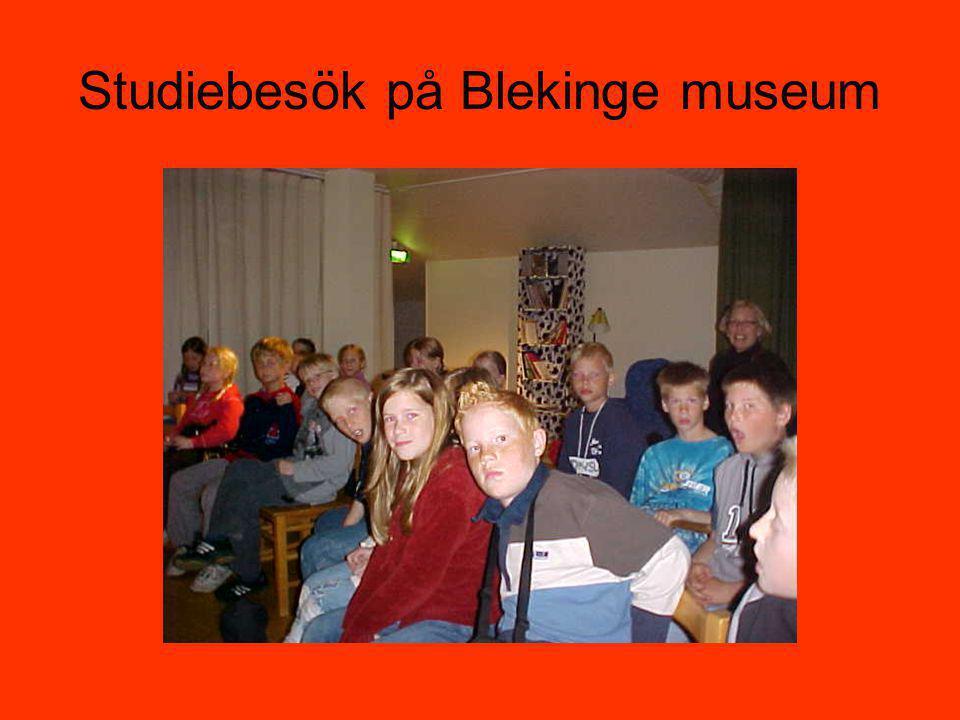 Studiebesök på Blekinge museum