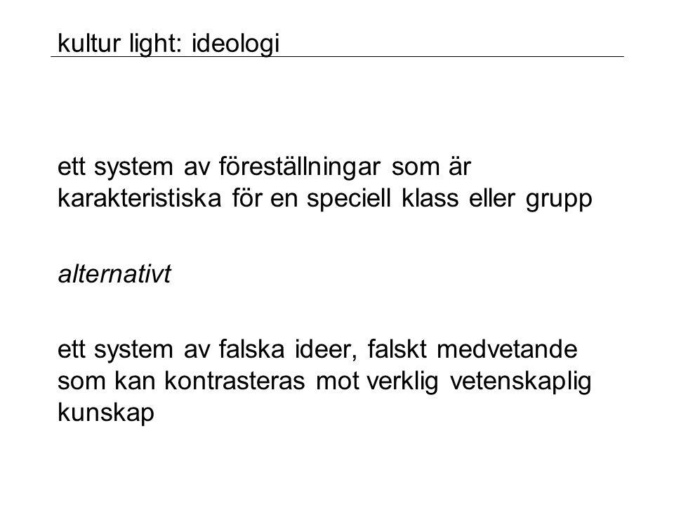 kultur light: ideologi