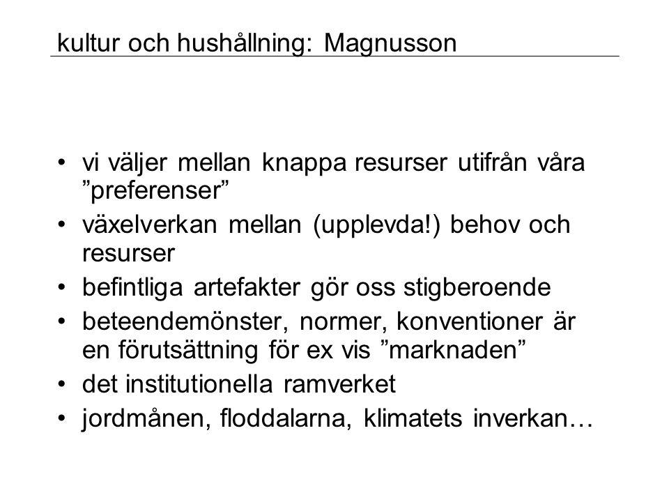 kultur och hushållning: Magnusson