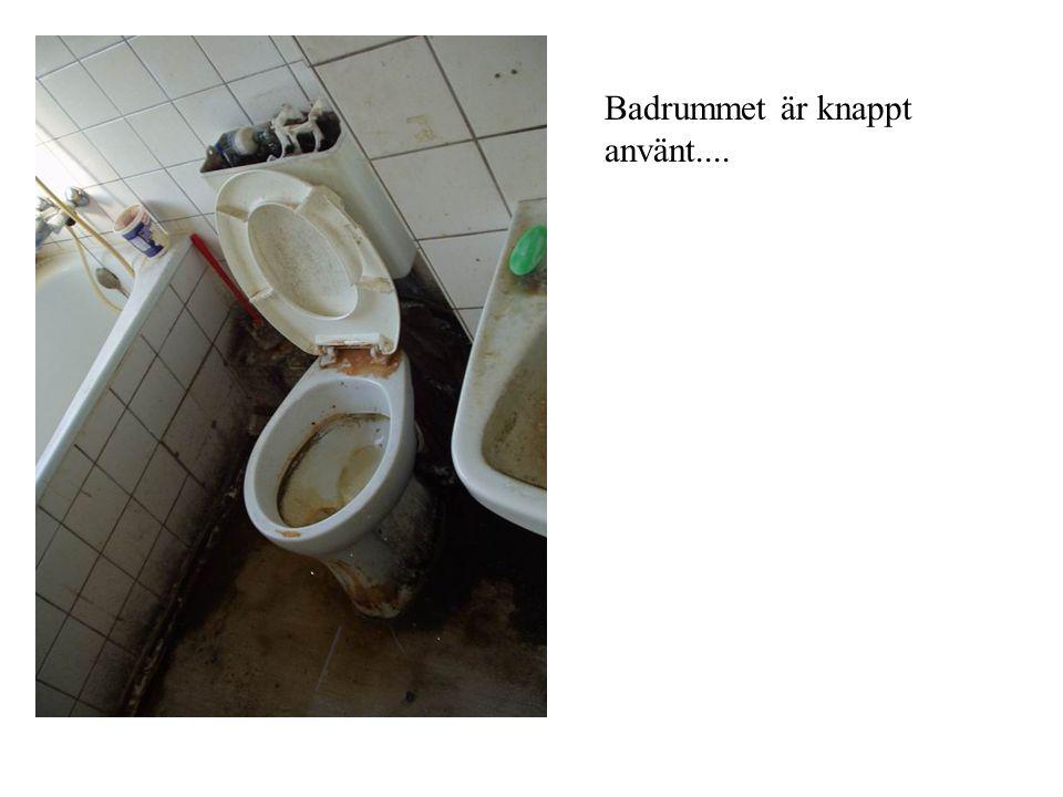 Badrummet är knappt använt....