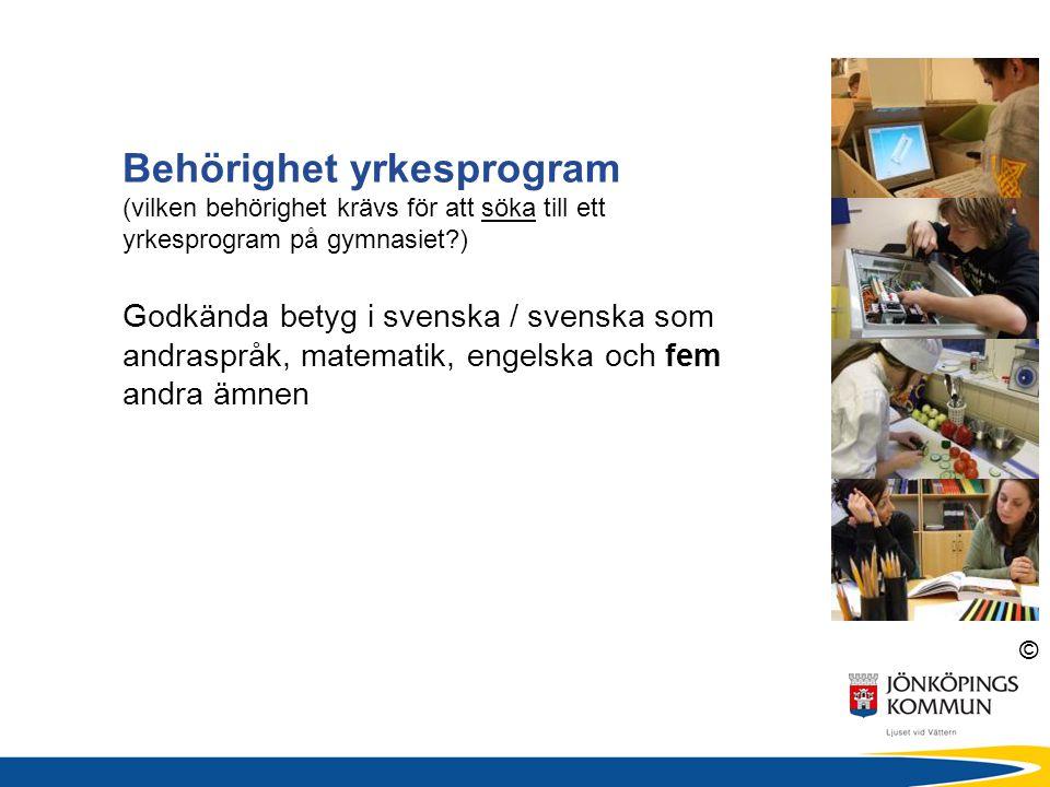 Behörighet yrkesprogram (vilken behörighet krävs för att söka till ett yrkesprogram på gymnasiet )