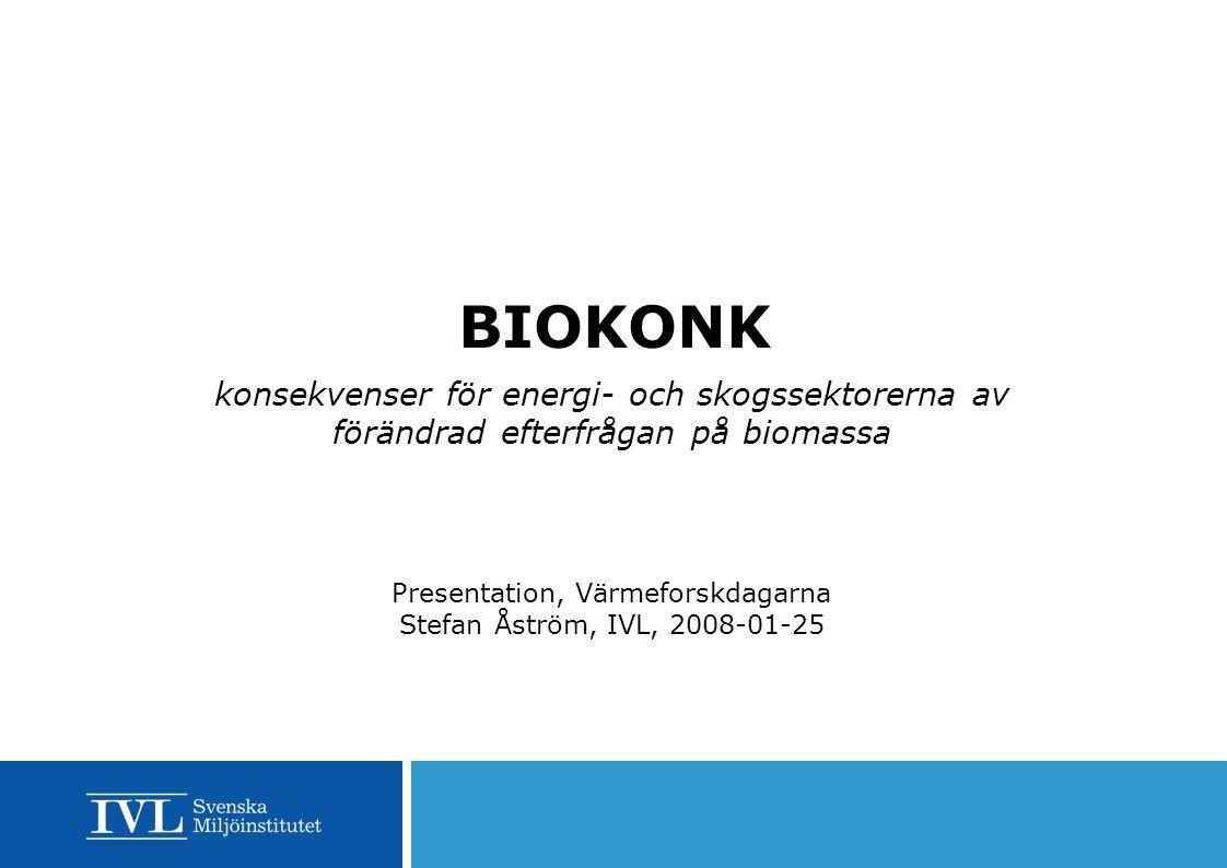 Presentation, Värmeforskdagarna