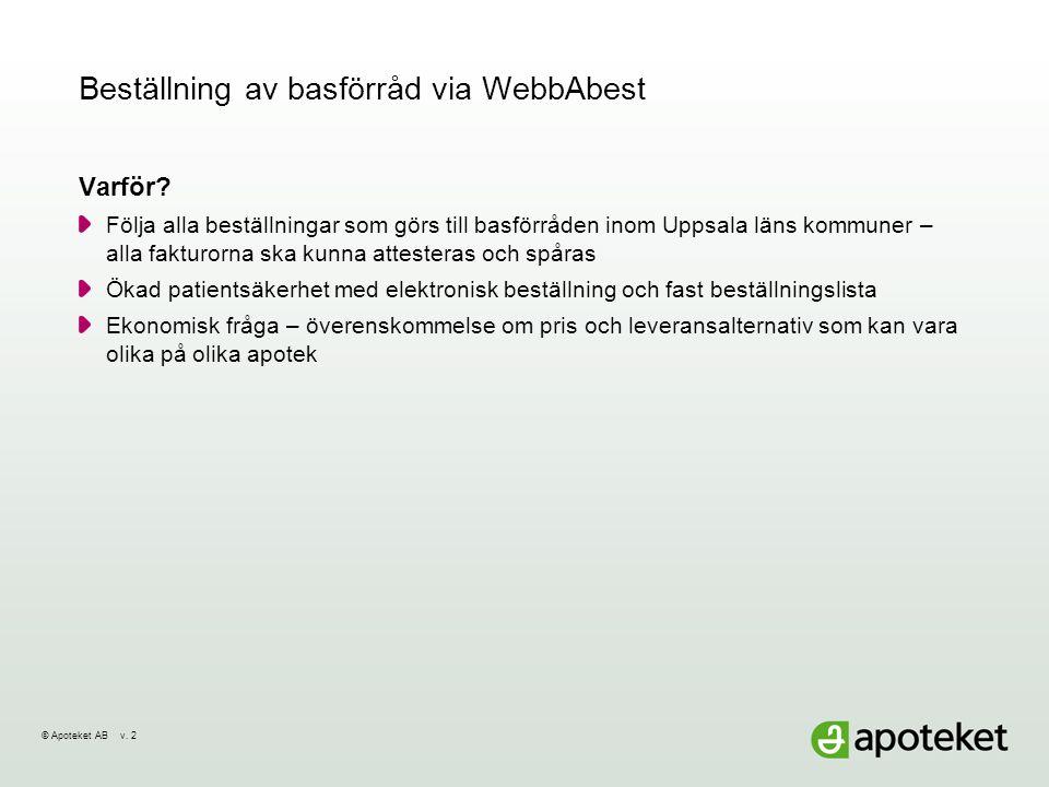 Beställning av basförråd via WebbAbest