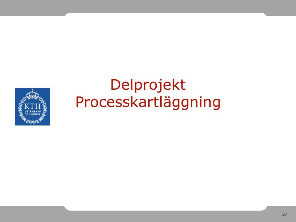 Delprojekt Processkartläggning