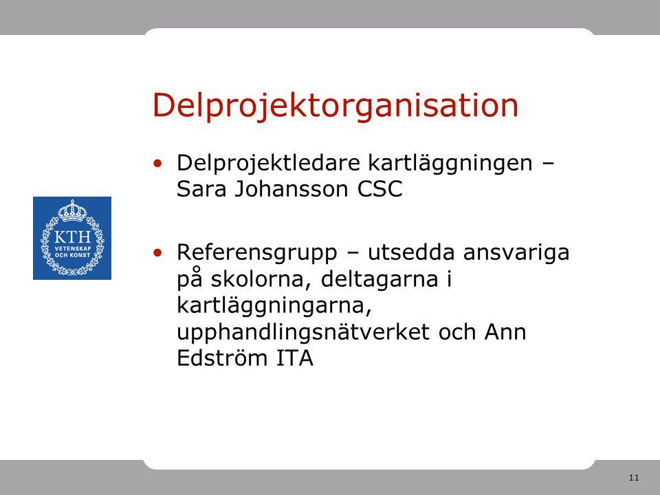 Delprojektorganisation