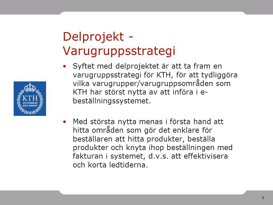 Delprojekt -Varugruppsstrategi