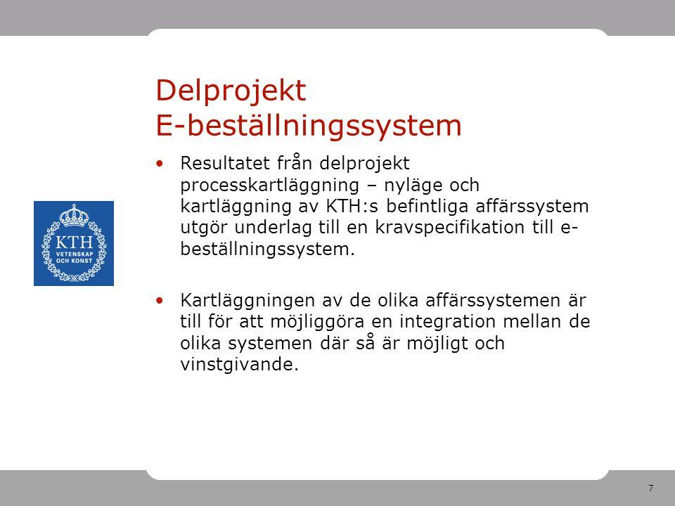 Delprojekt E-beställningssystem