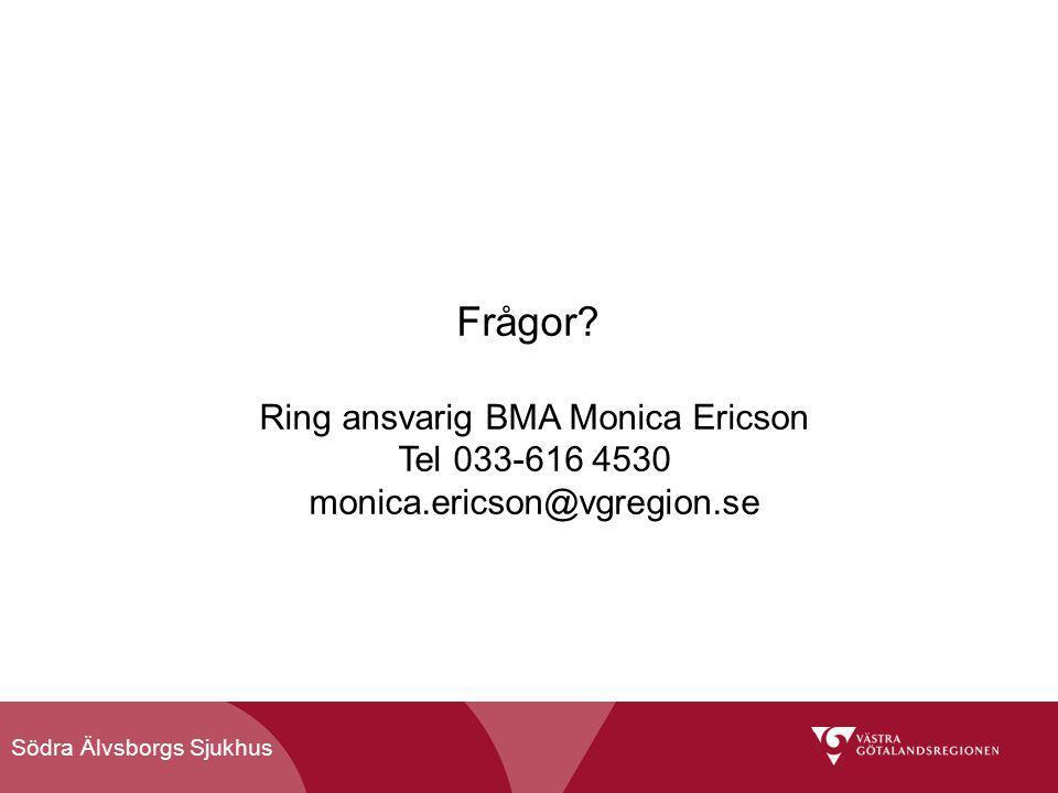 Ring ansvarig BMA Monica Ericson