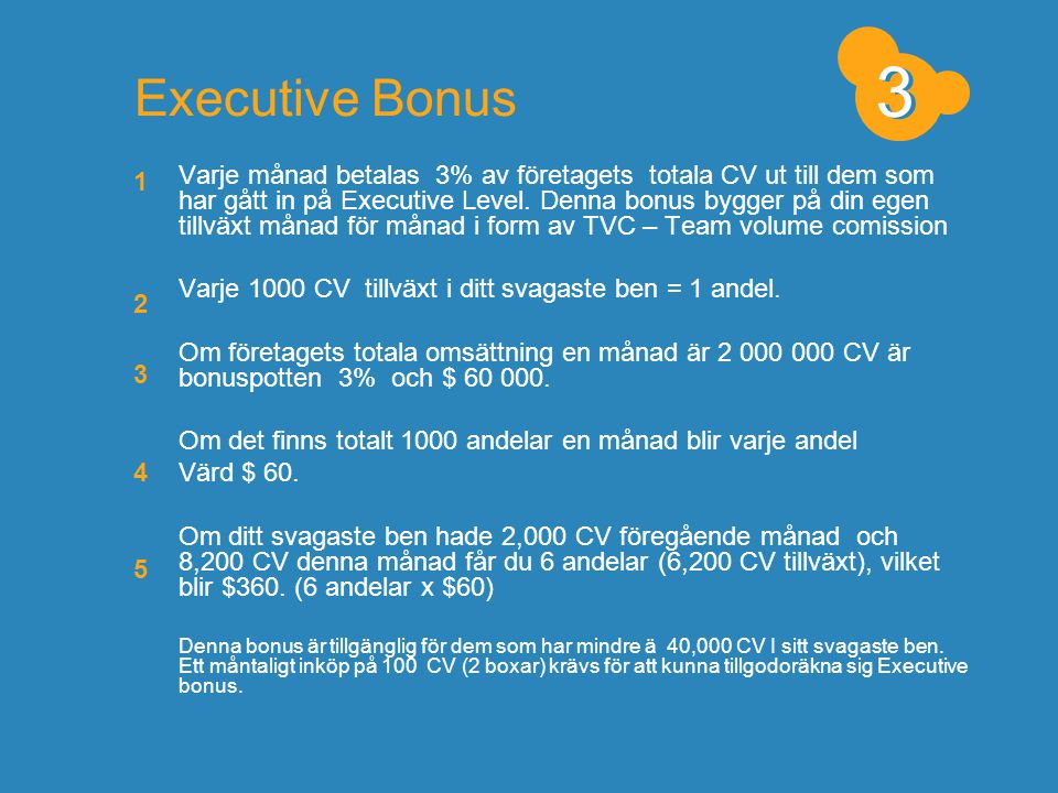 3 3. Executive Bonus. 1.