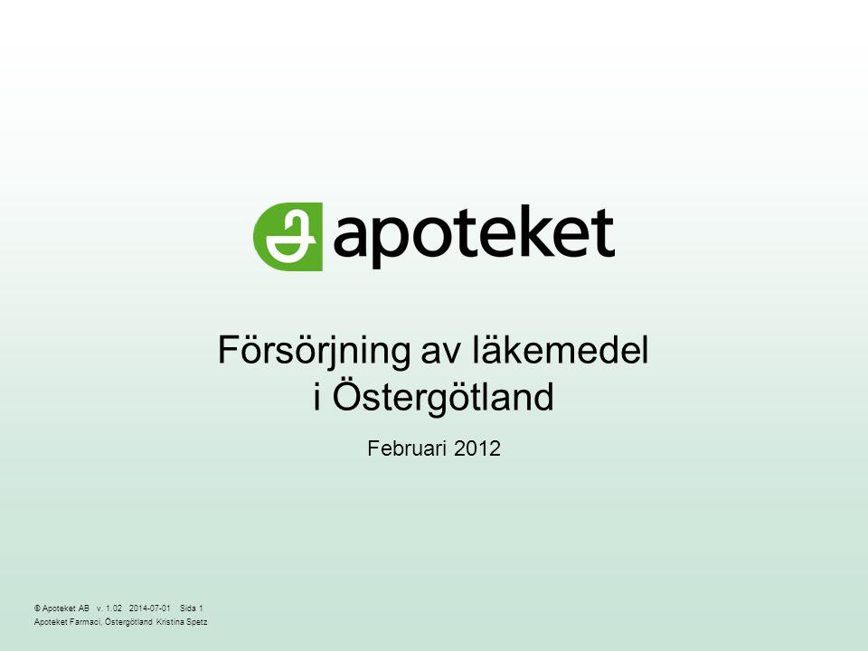 Försörjning av läkemedel i Östergötland