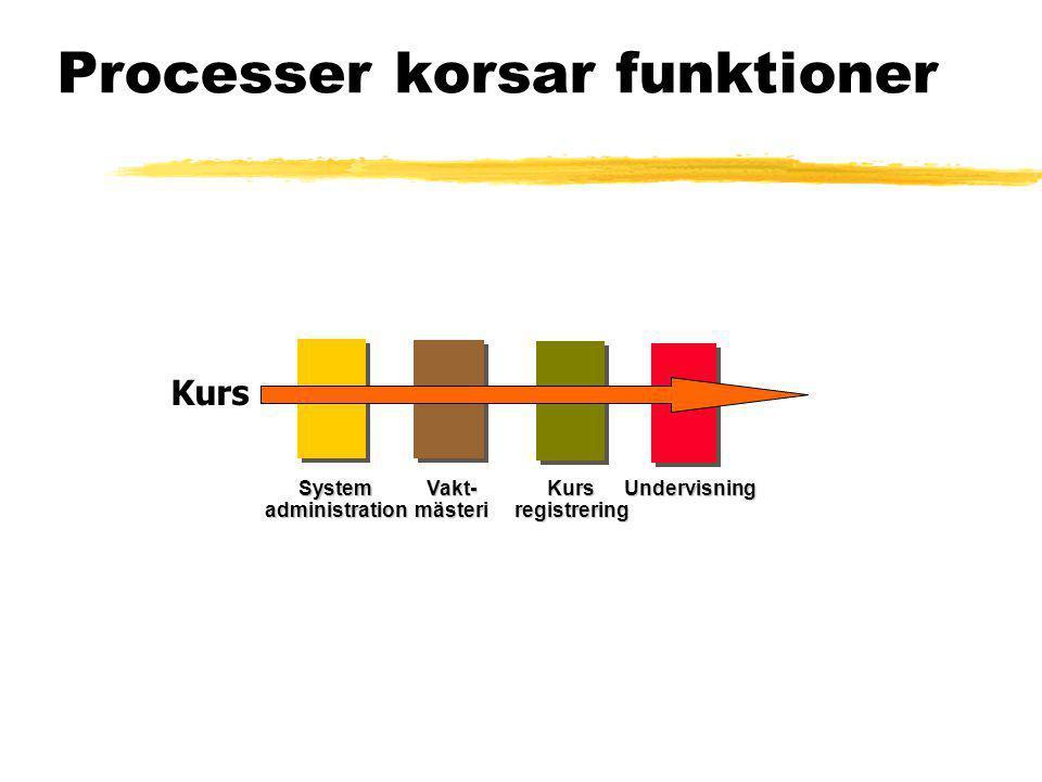 Processer korsar funktioner