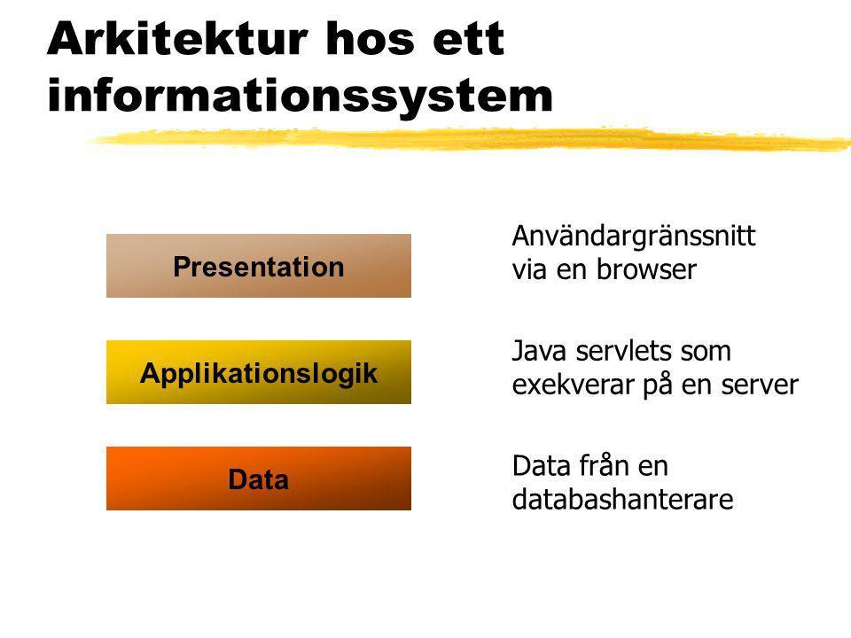 Arkitektur hos ett informationssystem