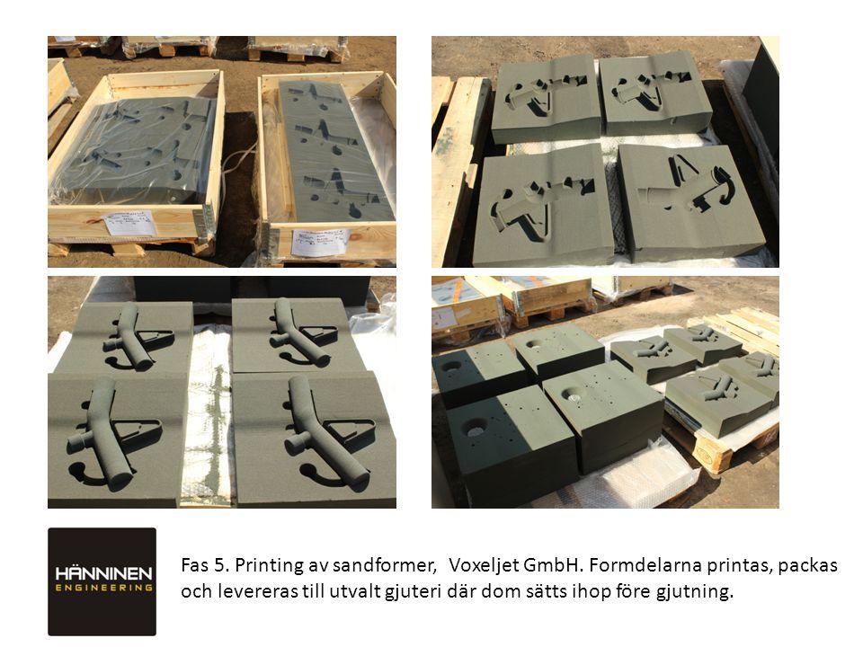 Fas 5. Printing av sandformer, Voxeljet GmbH