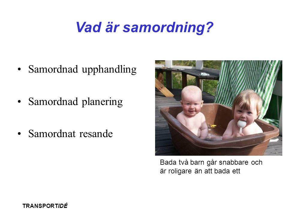 Vad är samordning Samordnad upphandling Samordnad planering