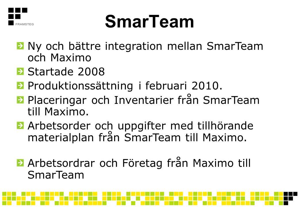 SmarTeam Ny och bättre integration mellan SmarTeam och Maximo
