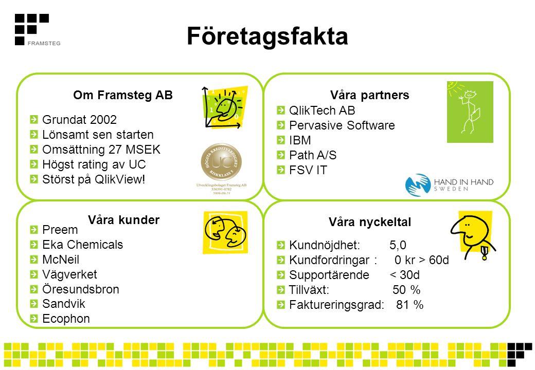 Företagsfakta Grundat 2002 Lönsamt sen starten Omsättning 27 MSEK