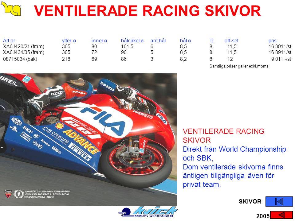 VENTILERADE RACING SKIVOR
