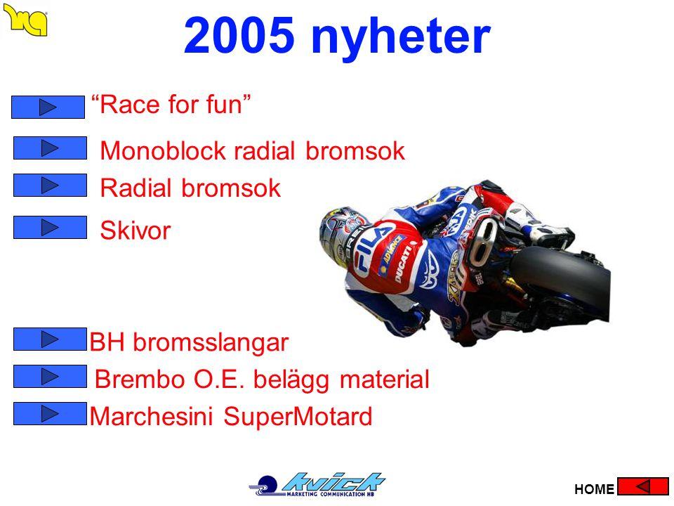 2005 nyheter Race for fun Monoblock radial bromsok Radial bromsok