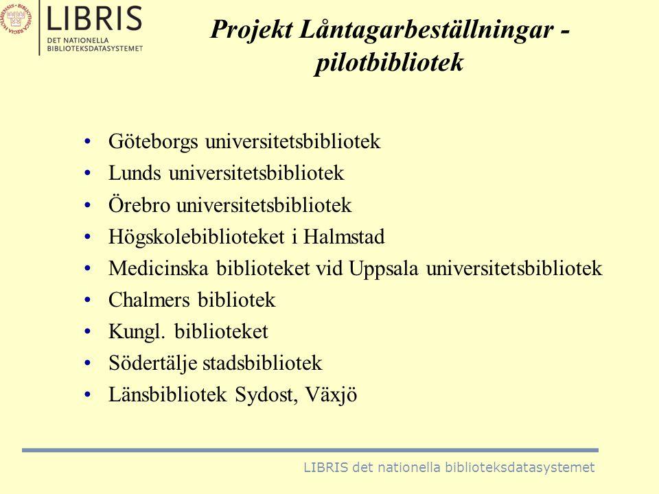 Projekt Låntagarbeställningar - pilotbibliotek