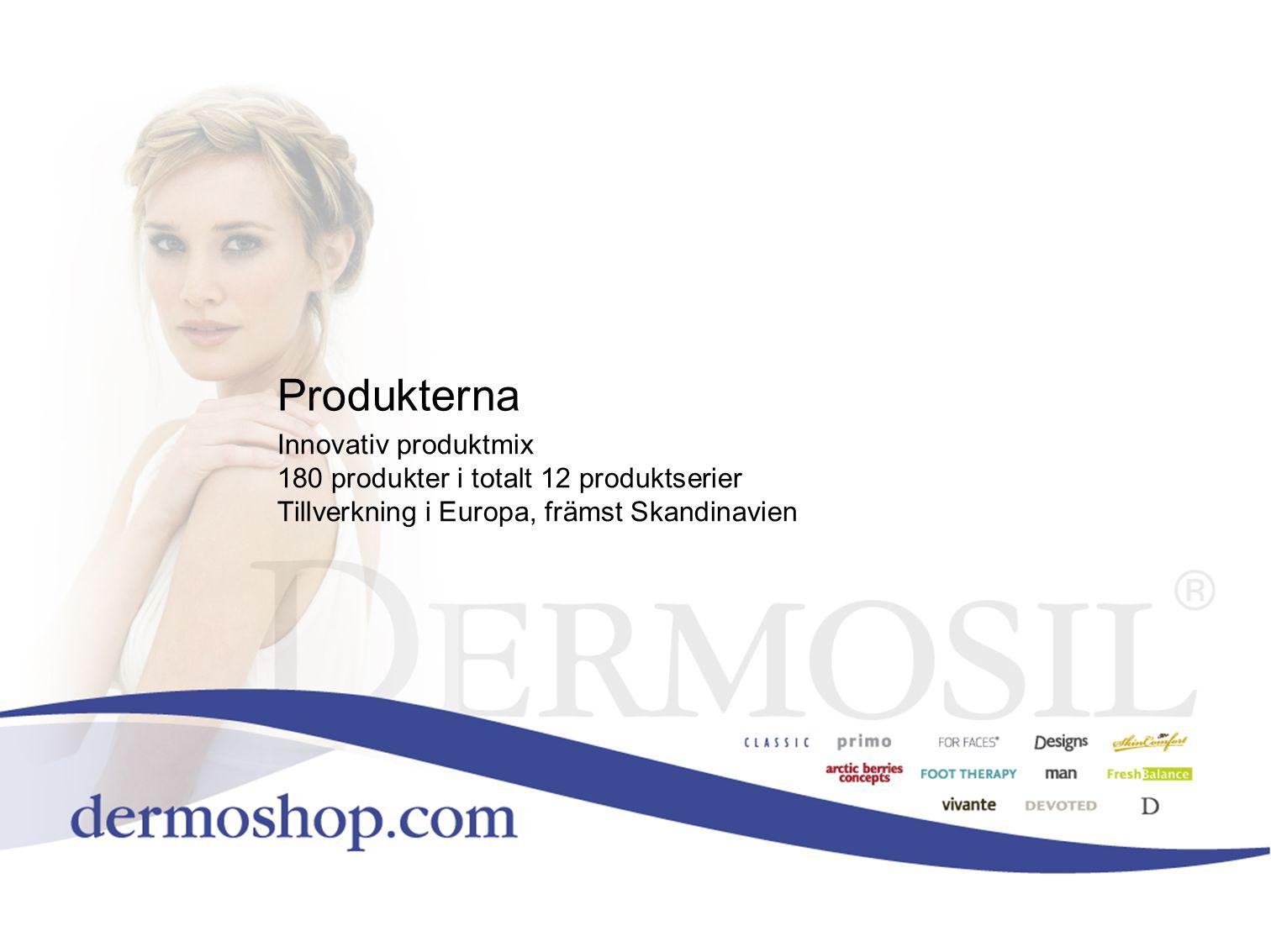Produkterna Innovativ produktmix