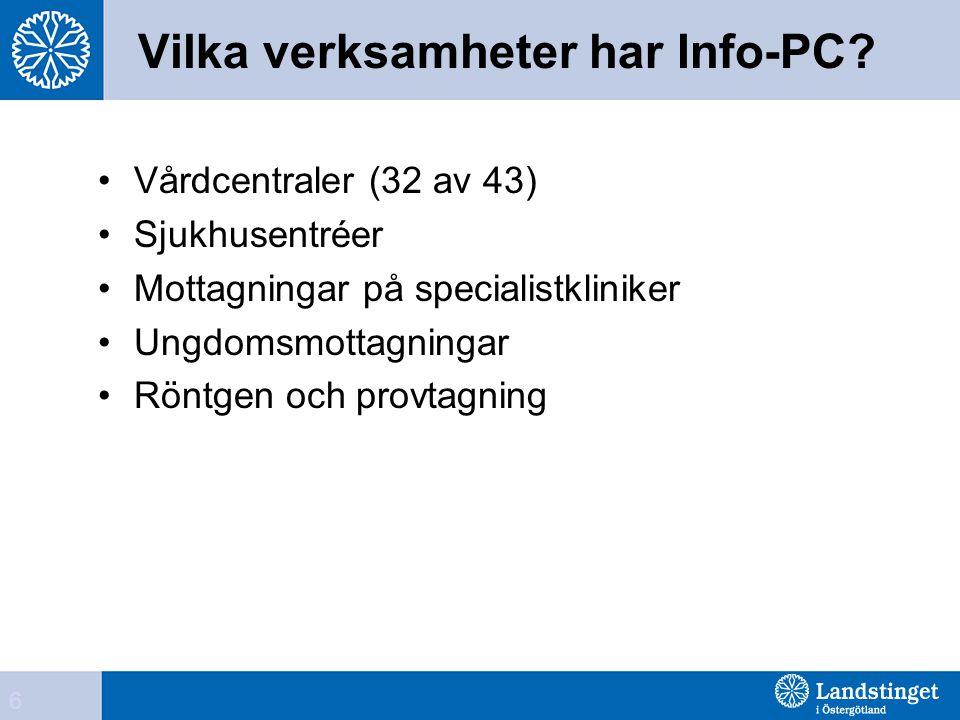 Vilka verksamheter har Info-PC