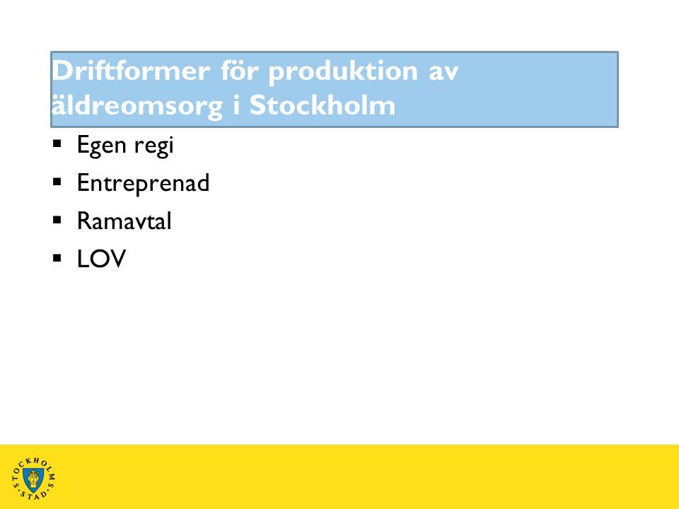 Driftformer för produktion av äldreomsorg i Stockholm