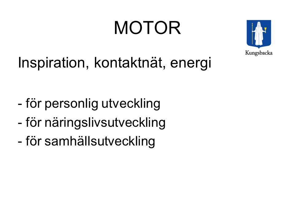 MOTOR Inspiration, kontaktnät, energi - för personlig utveckling