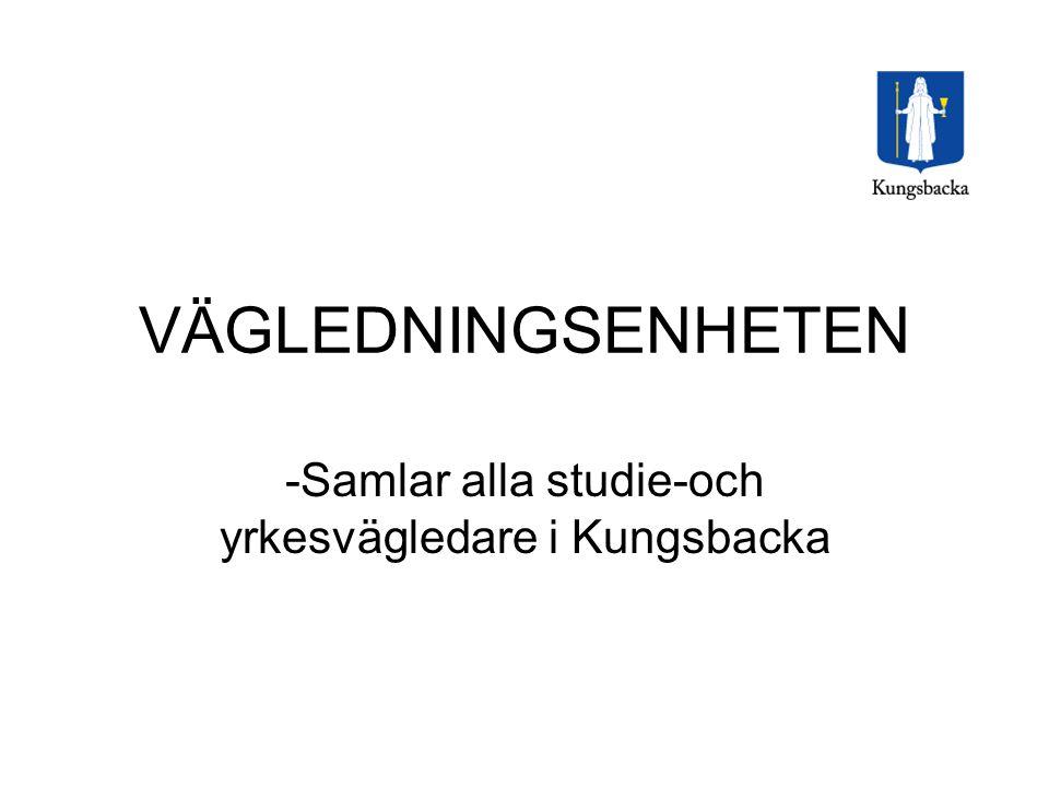 Samlar alla studie-och yrkesvägledare i Kungsbacka