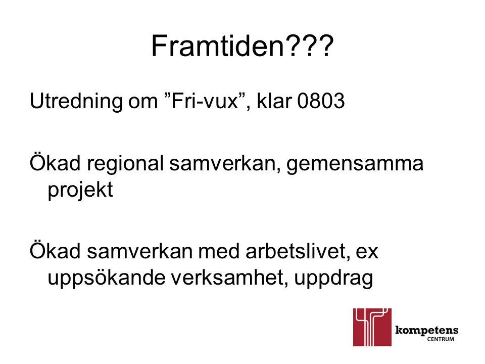 Framtiden Utredning om Fri-vux , klar 0803