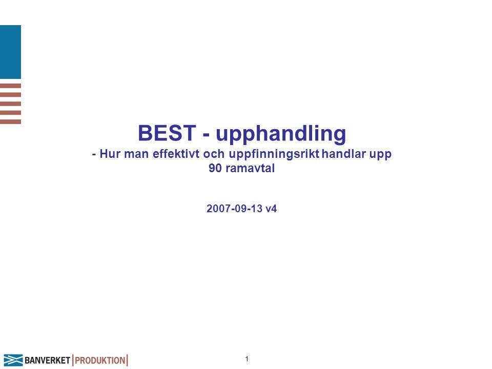 BEST - upphandling - Hur man effektivt och uppfinningsrikt handlar upp 90 ramavtal 2007-09-13 v4