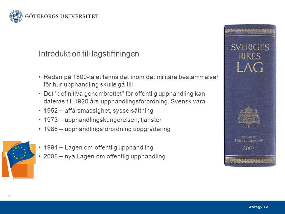 Introduktion till lagstiftningen