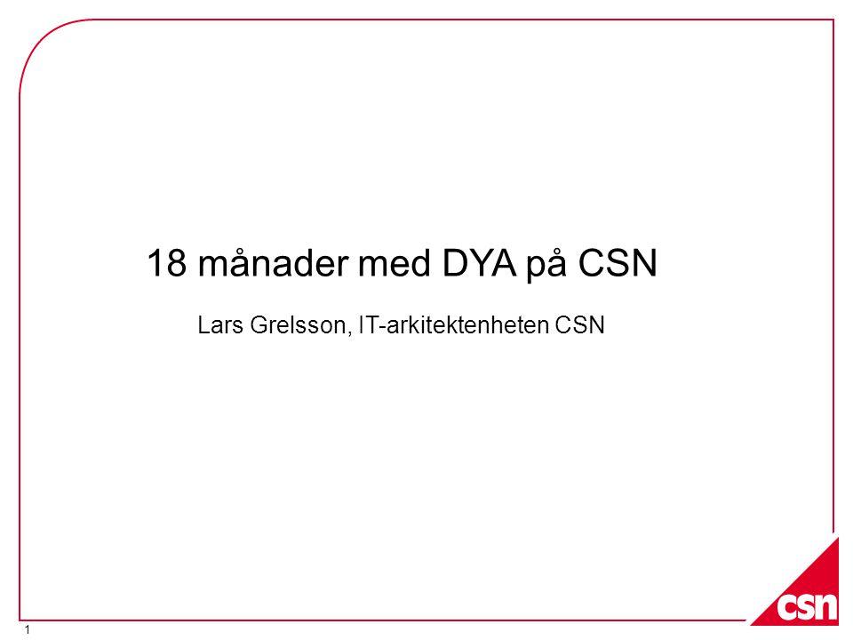 Lars Grelsson, IT-arkitektenheten CSN