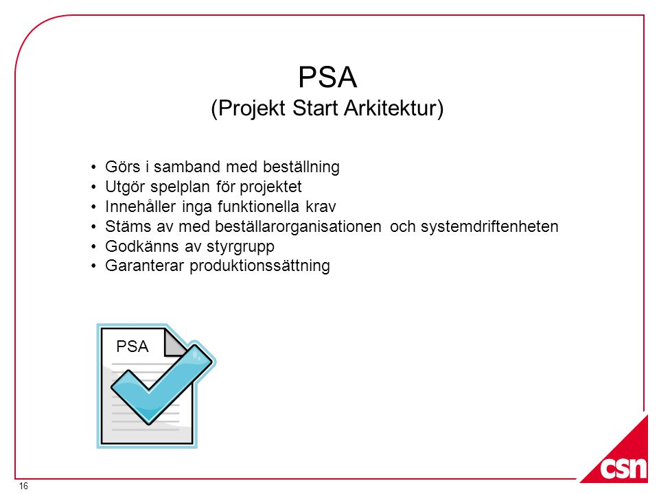 PSA (Projekt Start Arkitektur)