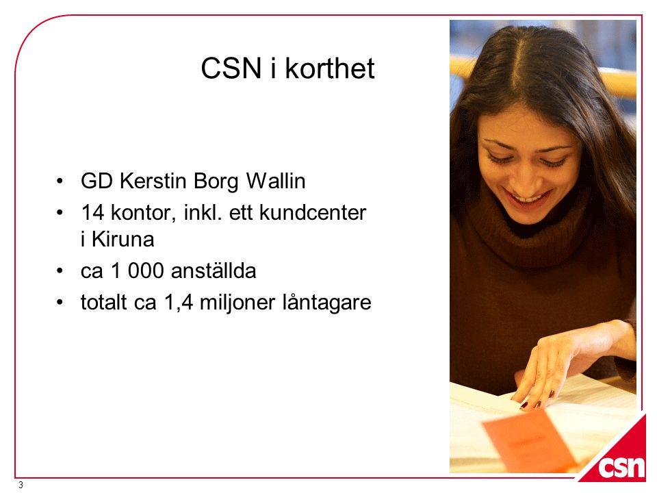 CSN i korthet GD Kerstin Borg Wallin