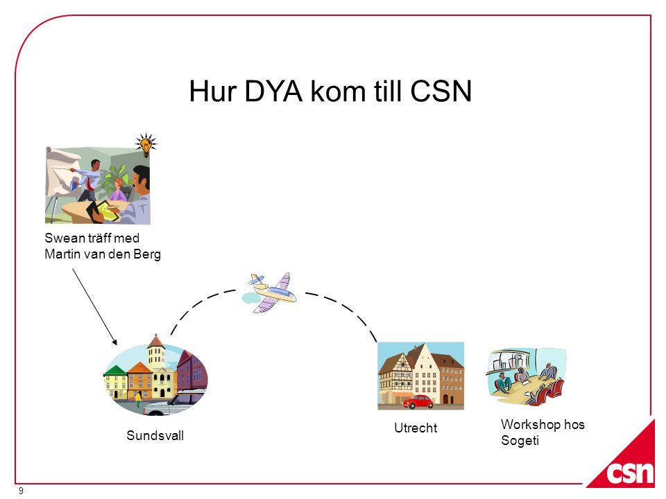 Hur DYA kom till CSN Swean träff med Martin van den Berg Workshop hos